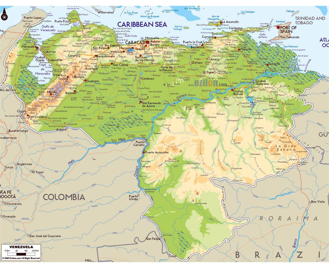 Physical D Map Of South America North America Physical Map - Us physical map lakes