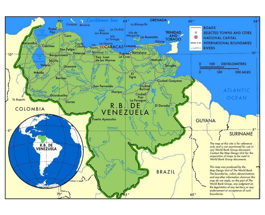 Maps Of Venezuela Detailed Map Of Venezuela In English Tourist - Brazil large scale road map