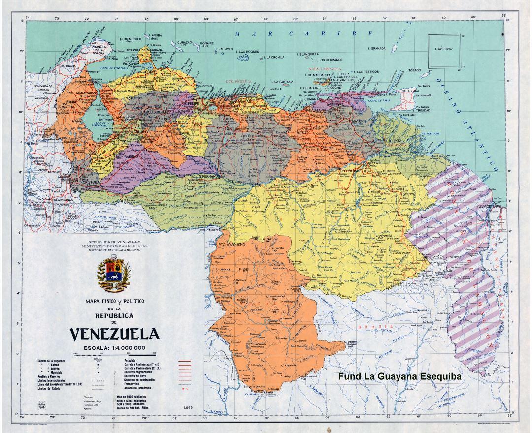 Maps of Venezuela Detailed map of Venezuela in English Tourist