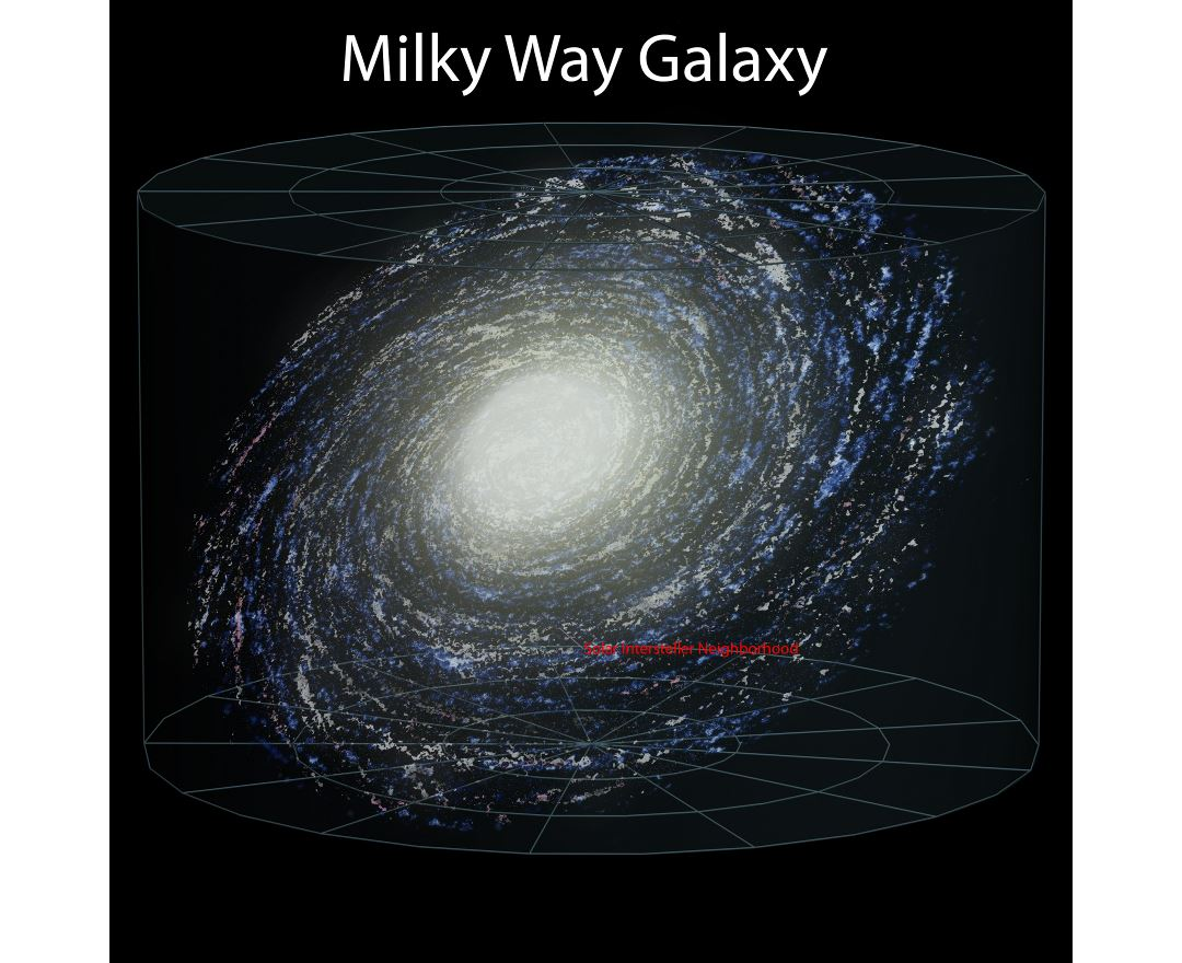 Large detailed map of the Milky Way