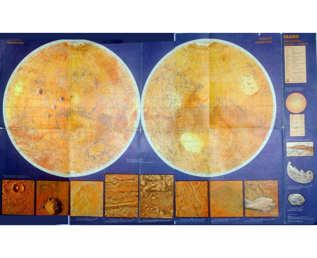 Large detailed map of Mars - 1984