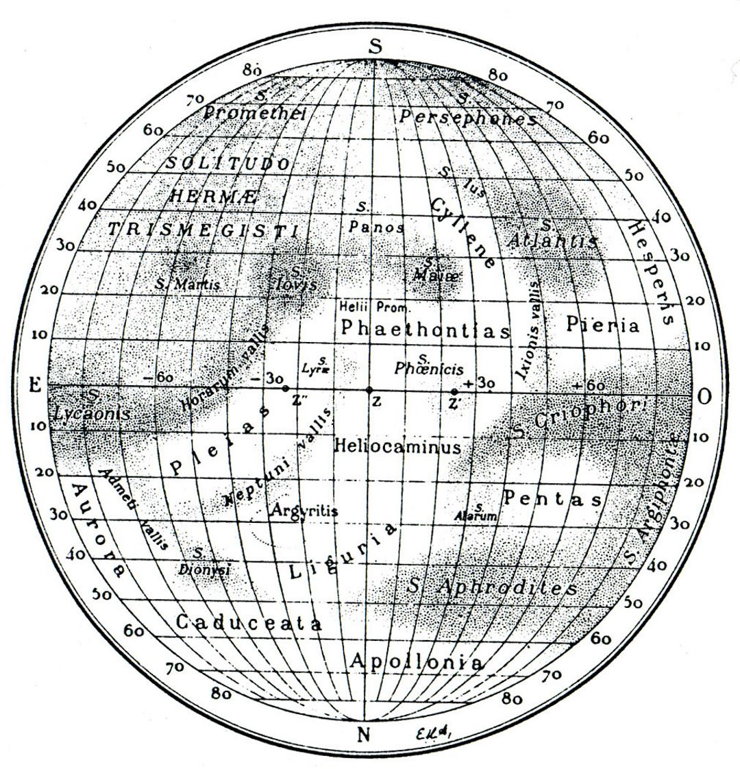 Detailed old map of Mercury - 1934