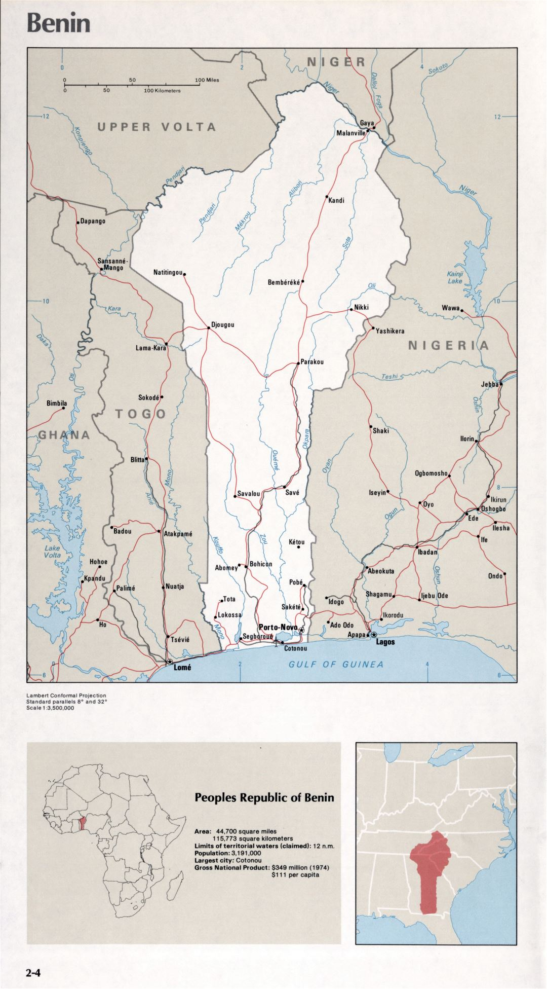 Map of Benin (2-4)