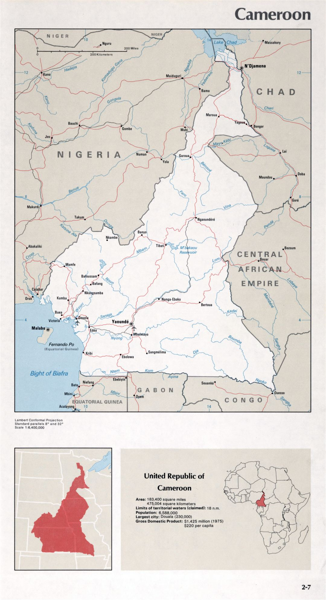 Map of Cameroon (2-7)