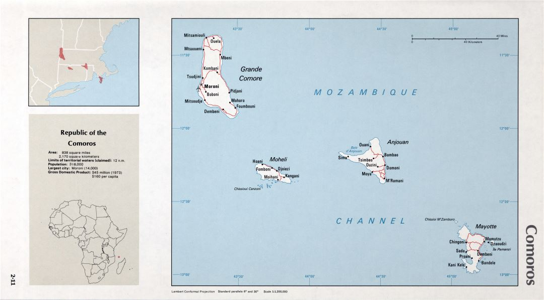 Map of Comoros (2-11)