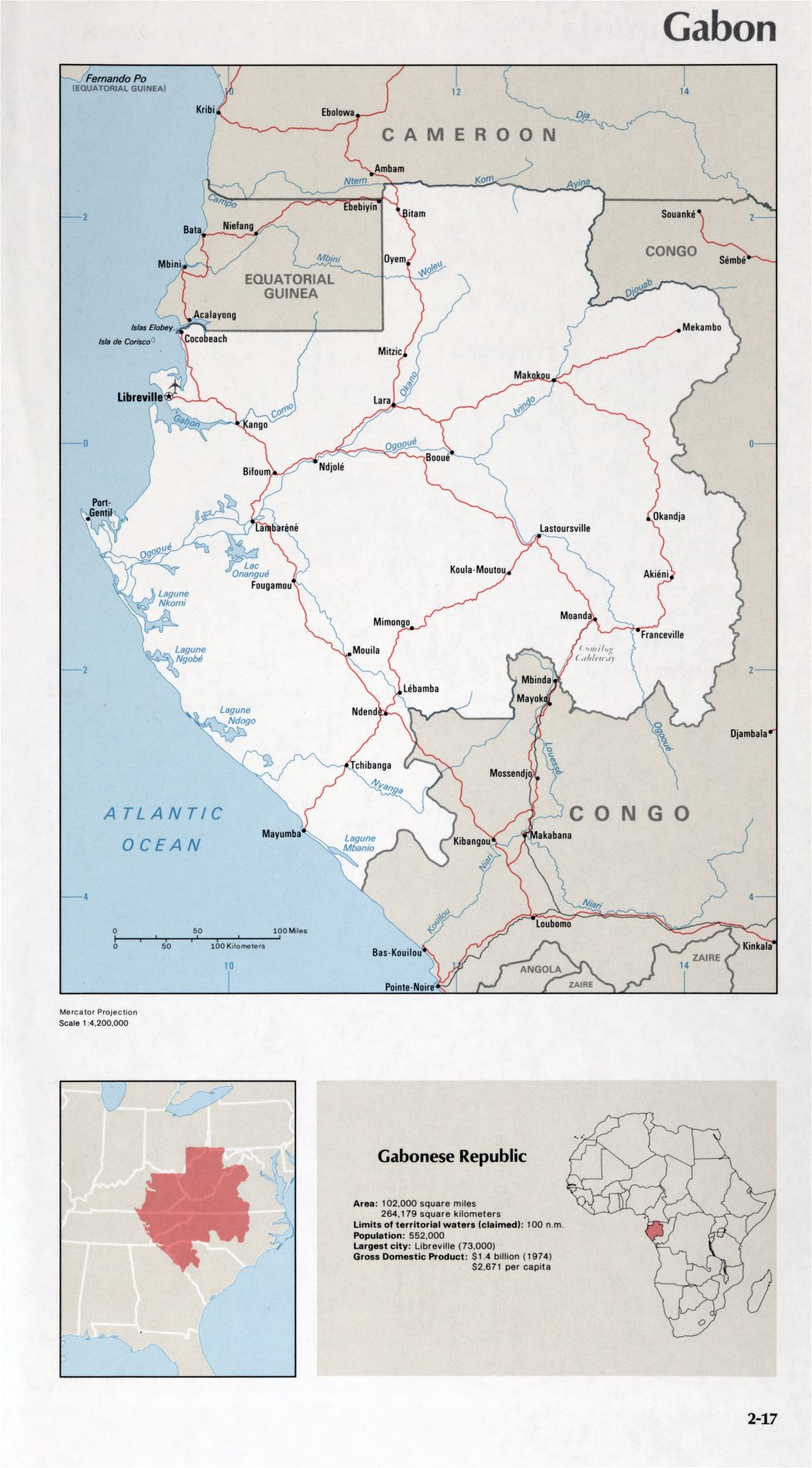 Map of Gabon (2-17)