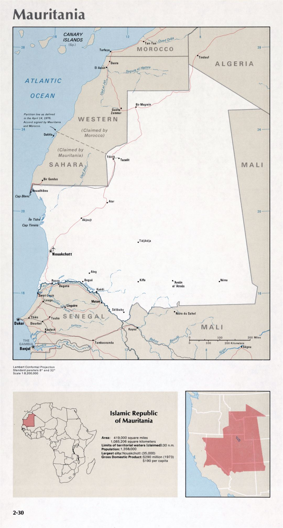 Map of Mauritania (2-30)