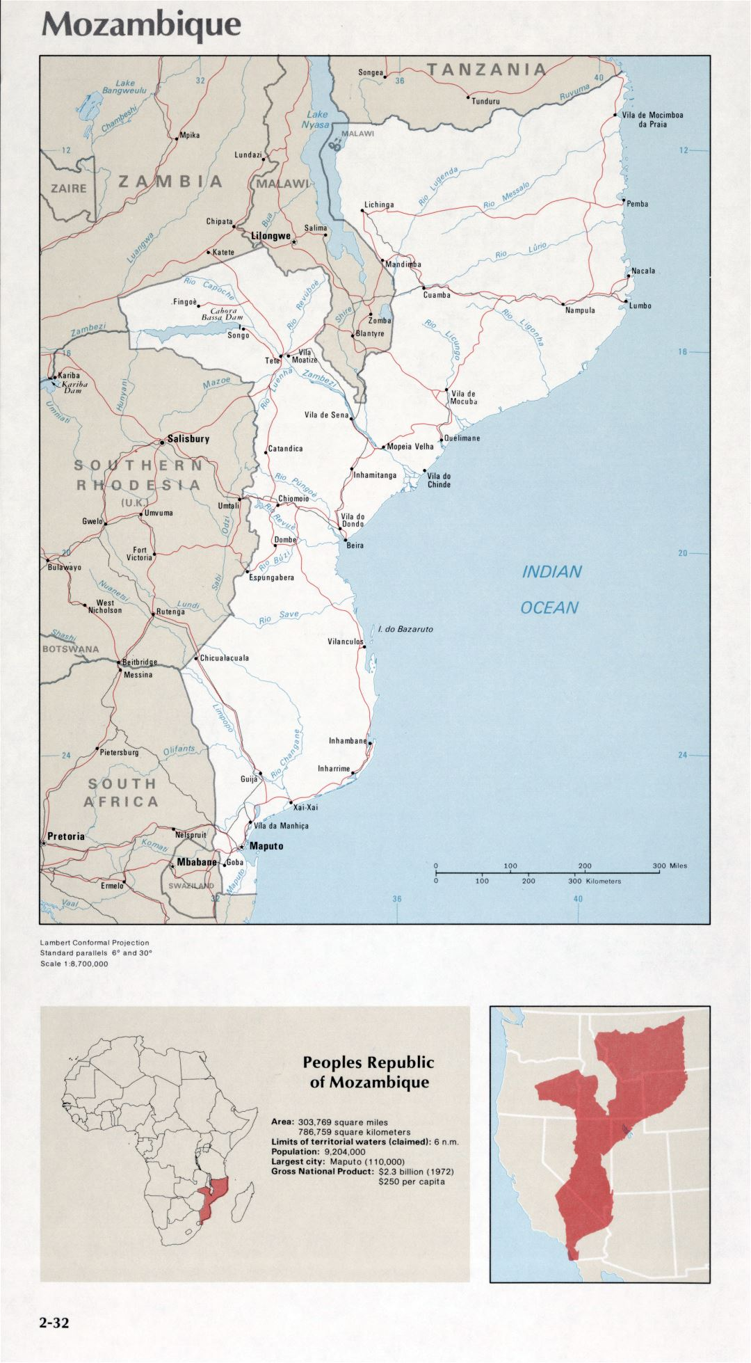 Map of Mozambique (2-32)