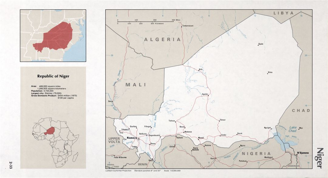 Map of Niger (2-33)