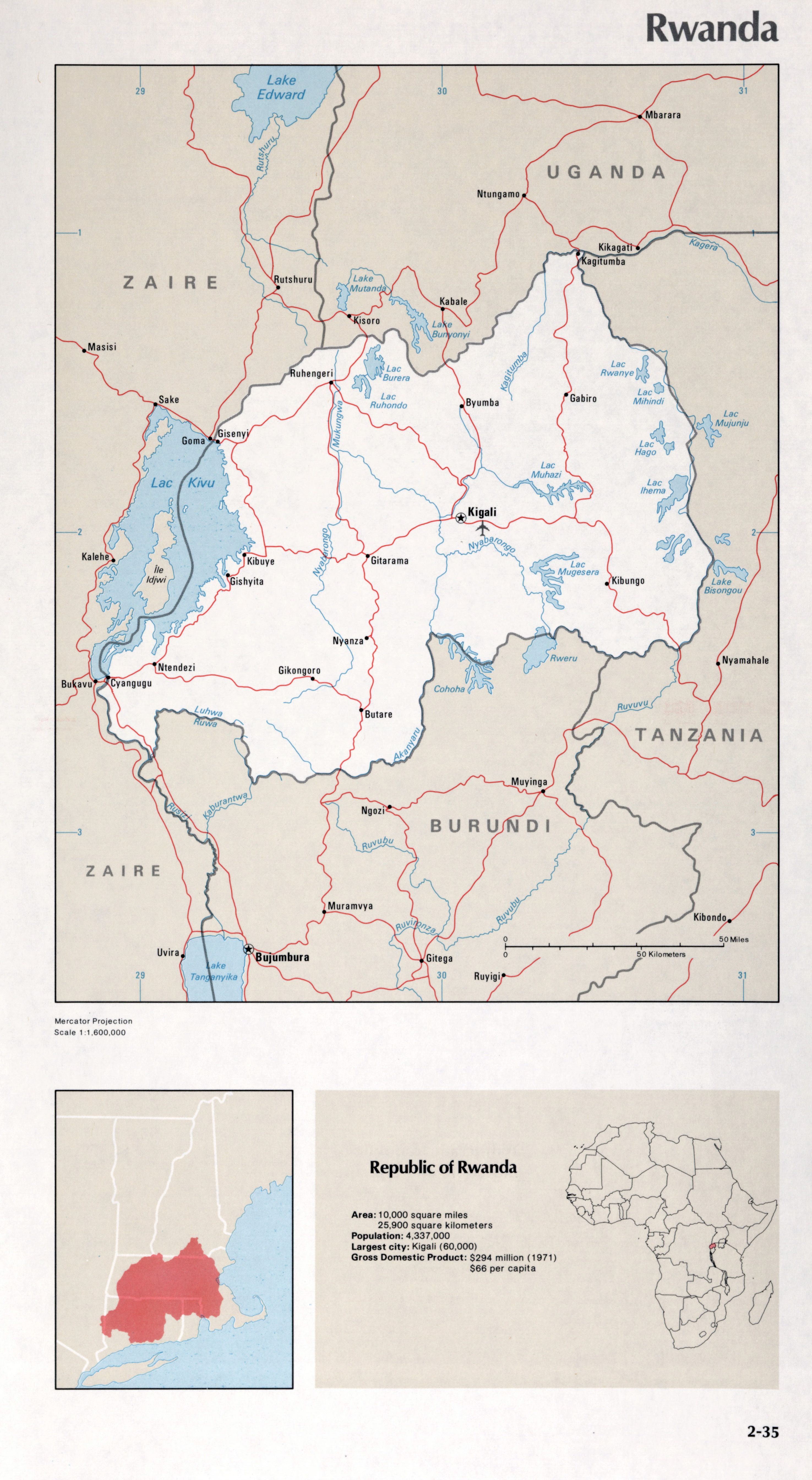 Image of: Map Of Rwanda 2 35 Africa Maps Of The World S Nations World Mapsland Maps Of The World
