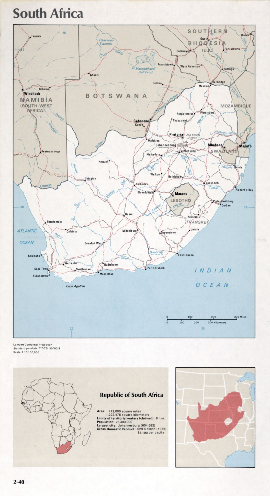 Map of South Africa (2-40)