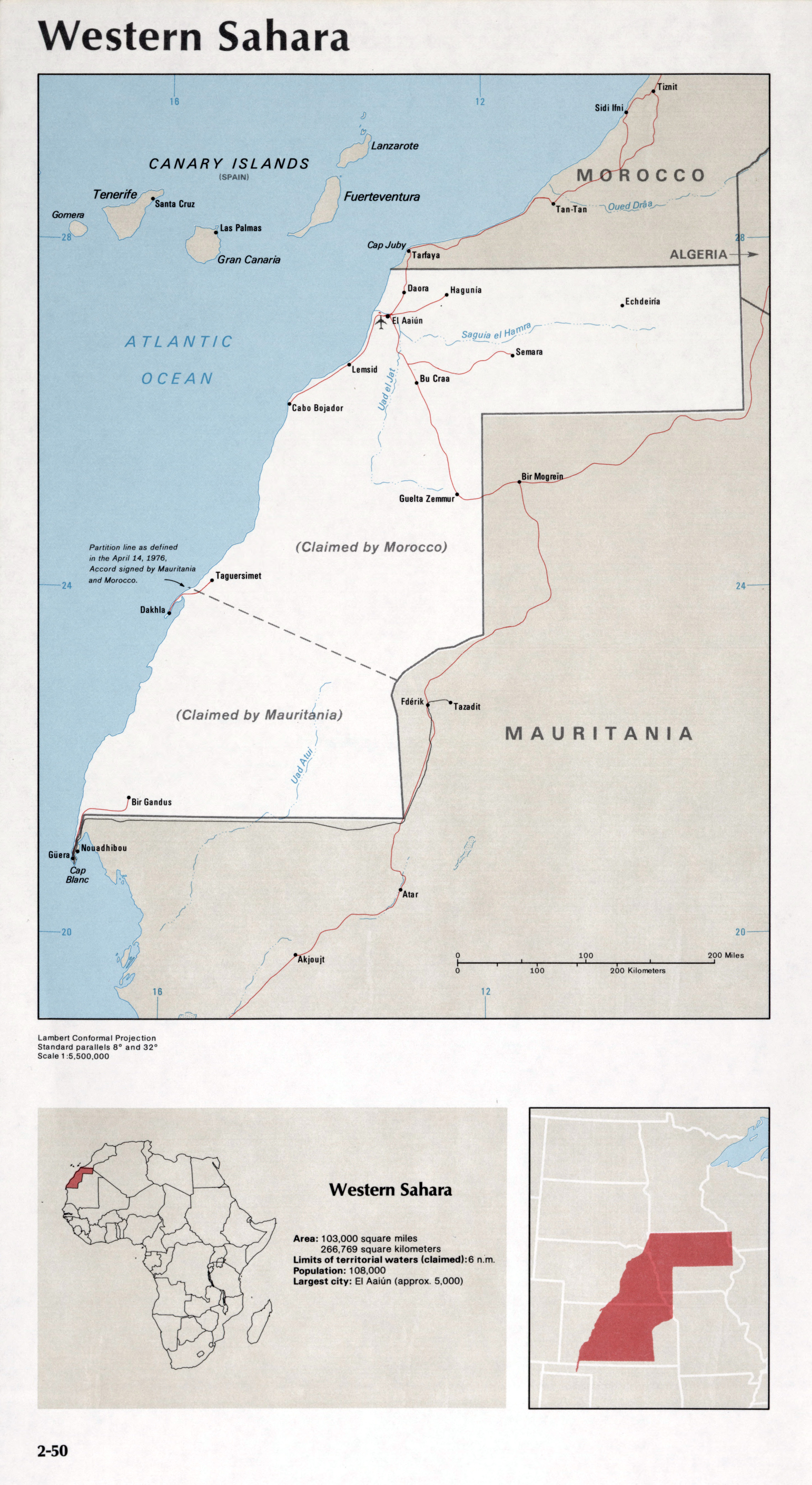 Image of: Map Of Western Sahara 2 50 Africa Maps Of The World S Nations World Mapsland Maps Of The World