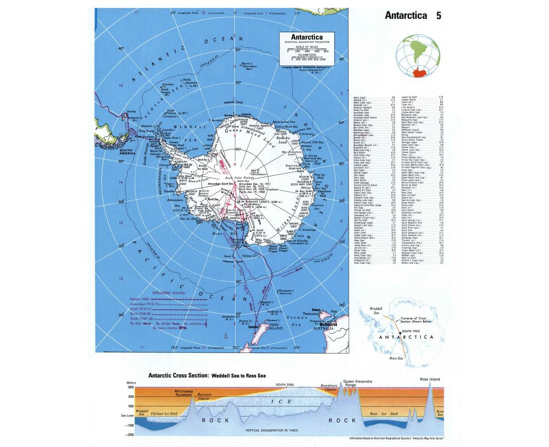 Maps of Antarctic Region Collection of detailed maps of Antarctic