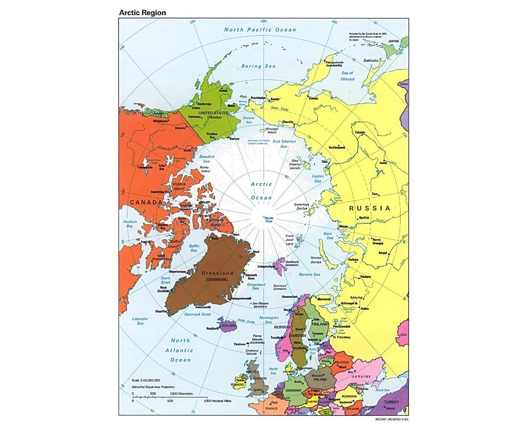 Arctic Circle On World Map.Maps Of Arctic Region Collection Of Maps Of Arctic Region World