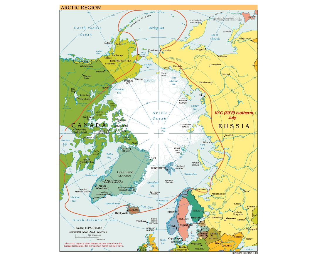 Maps of Arctic Region Collection of detailed maps of Arctic Region