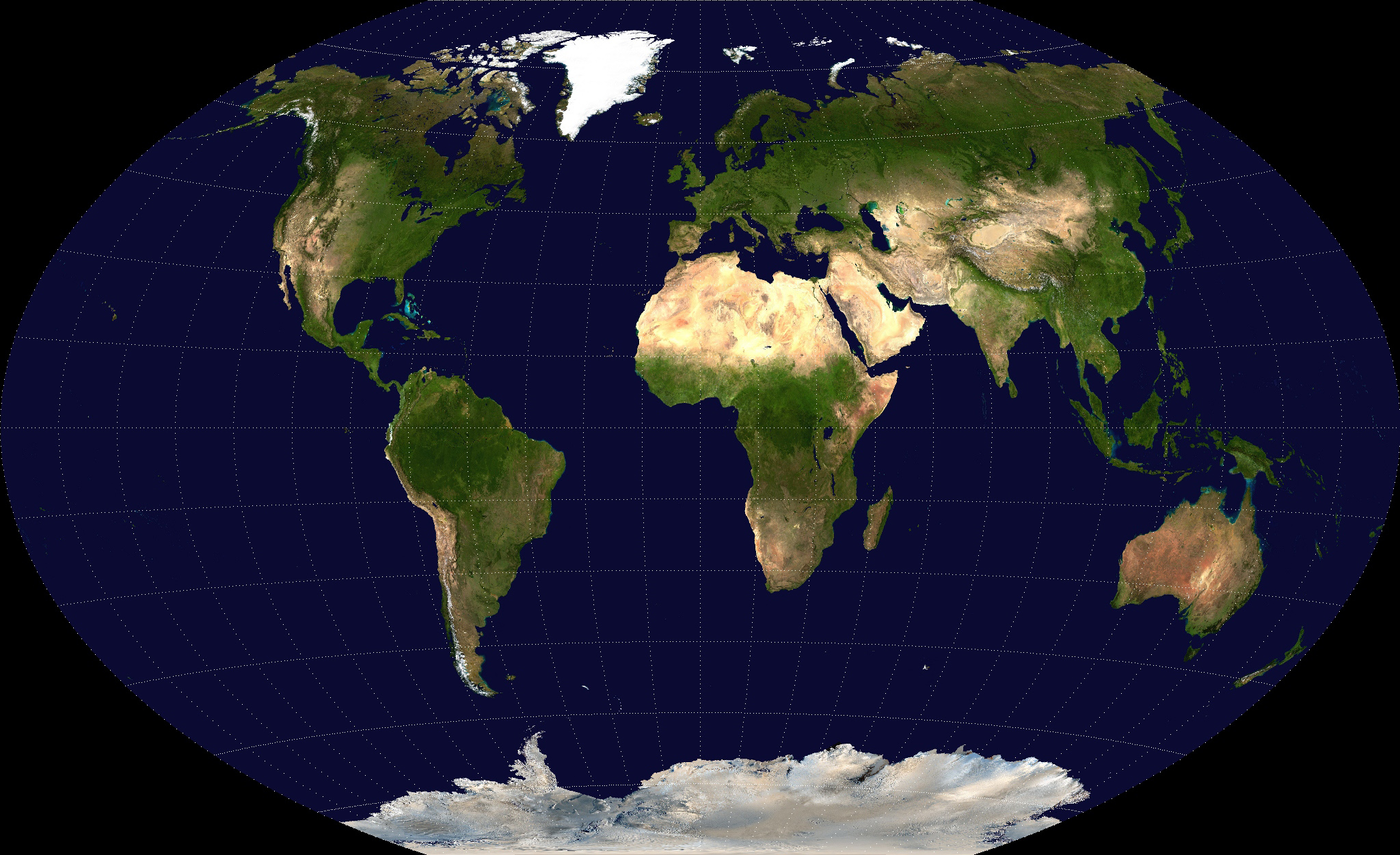 Detailed Satellite Map Of The World World Mapsland Maps Of - The world satellite image