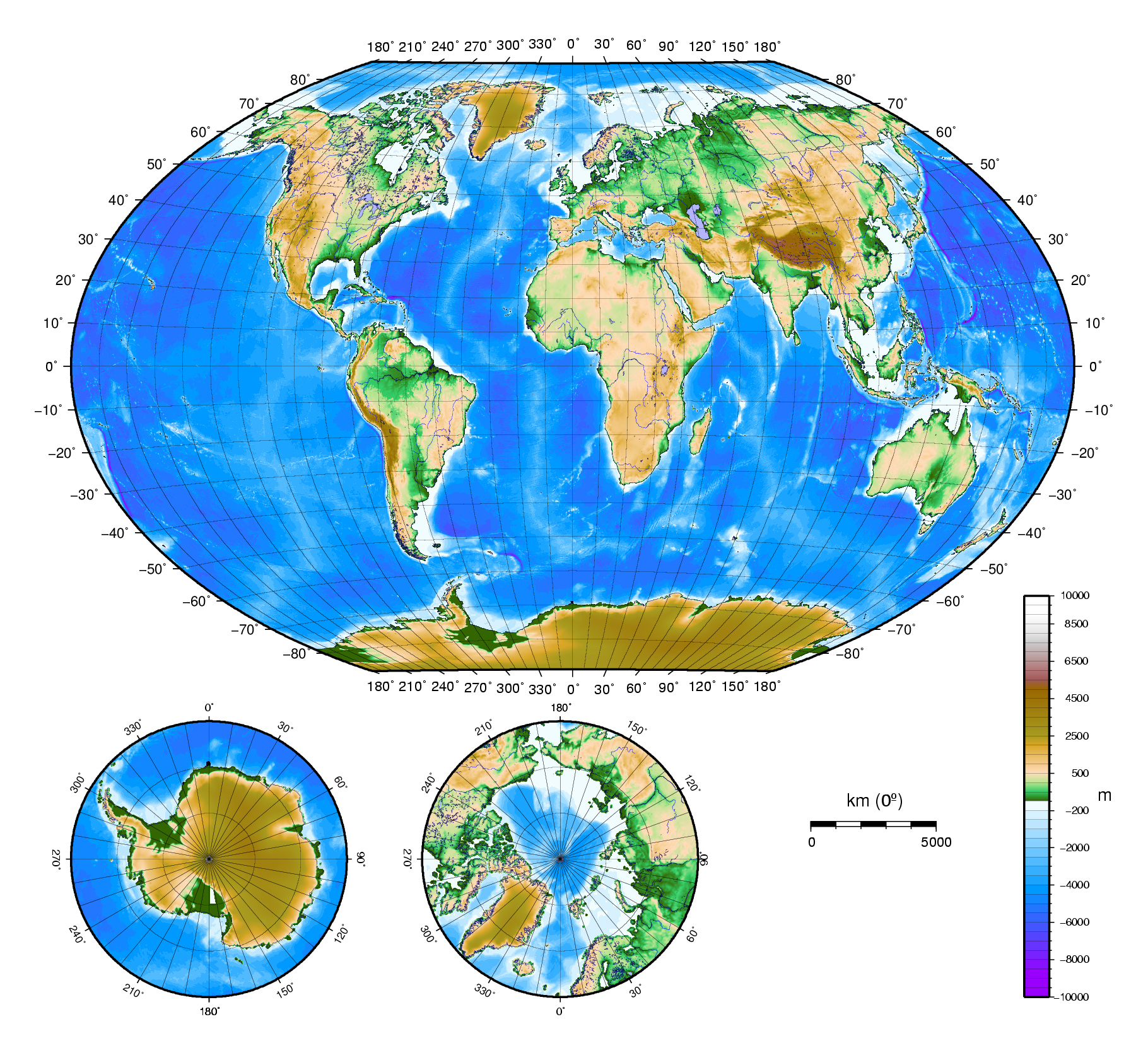 Image of: Large Detailed Physical Map Of The World World Mapsland Maps Of The World