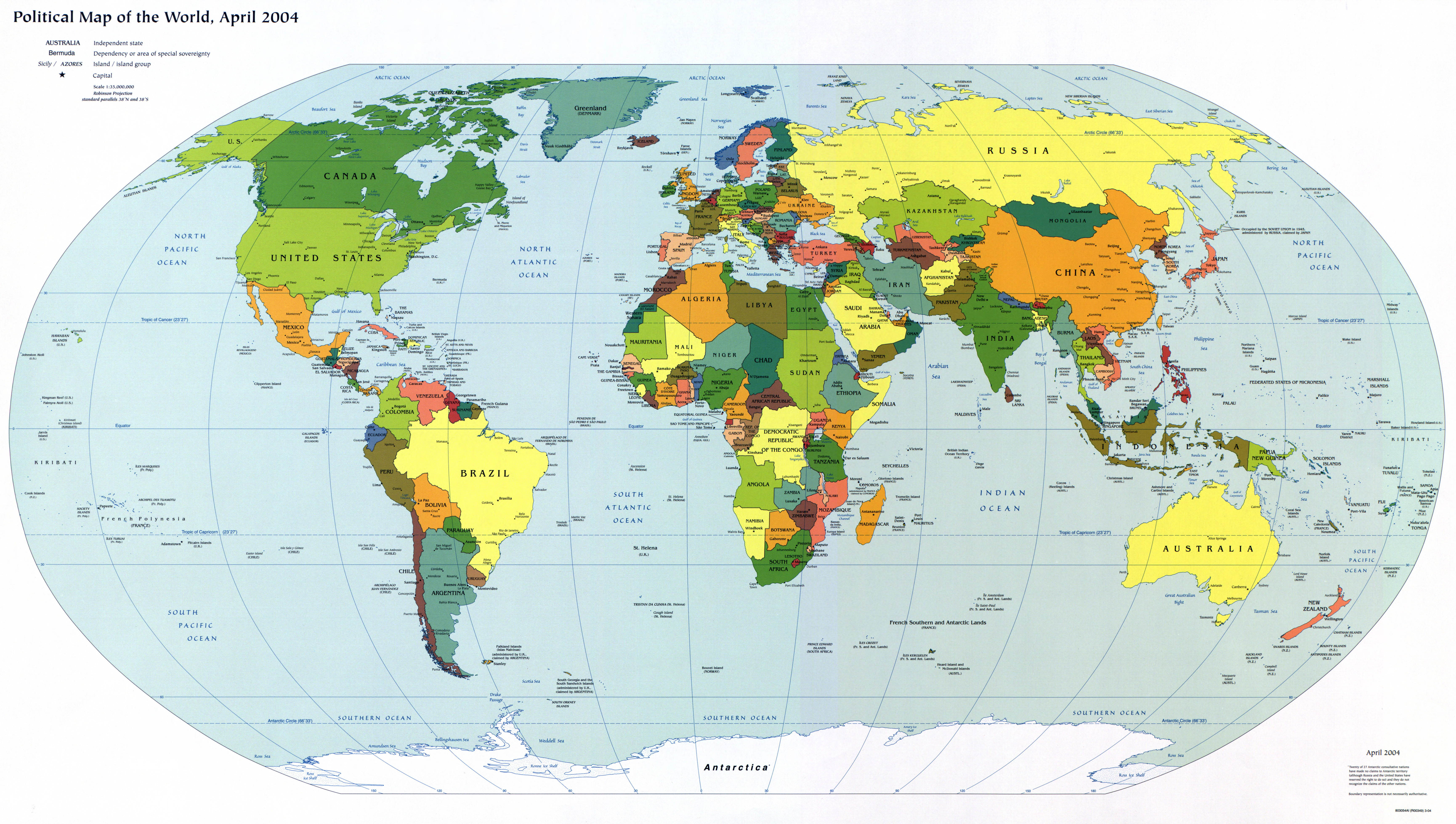 Map Of The World Detailed.Large Detailed Political Map Of The World With Capitals And Major
