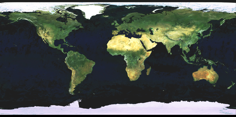 Large detailed satellite map of the World | World | Mapsland ...
