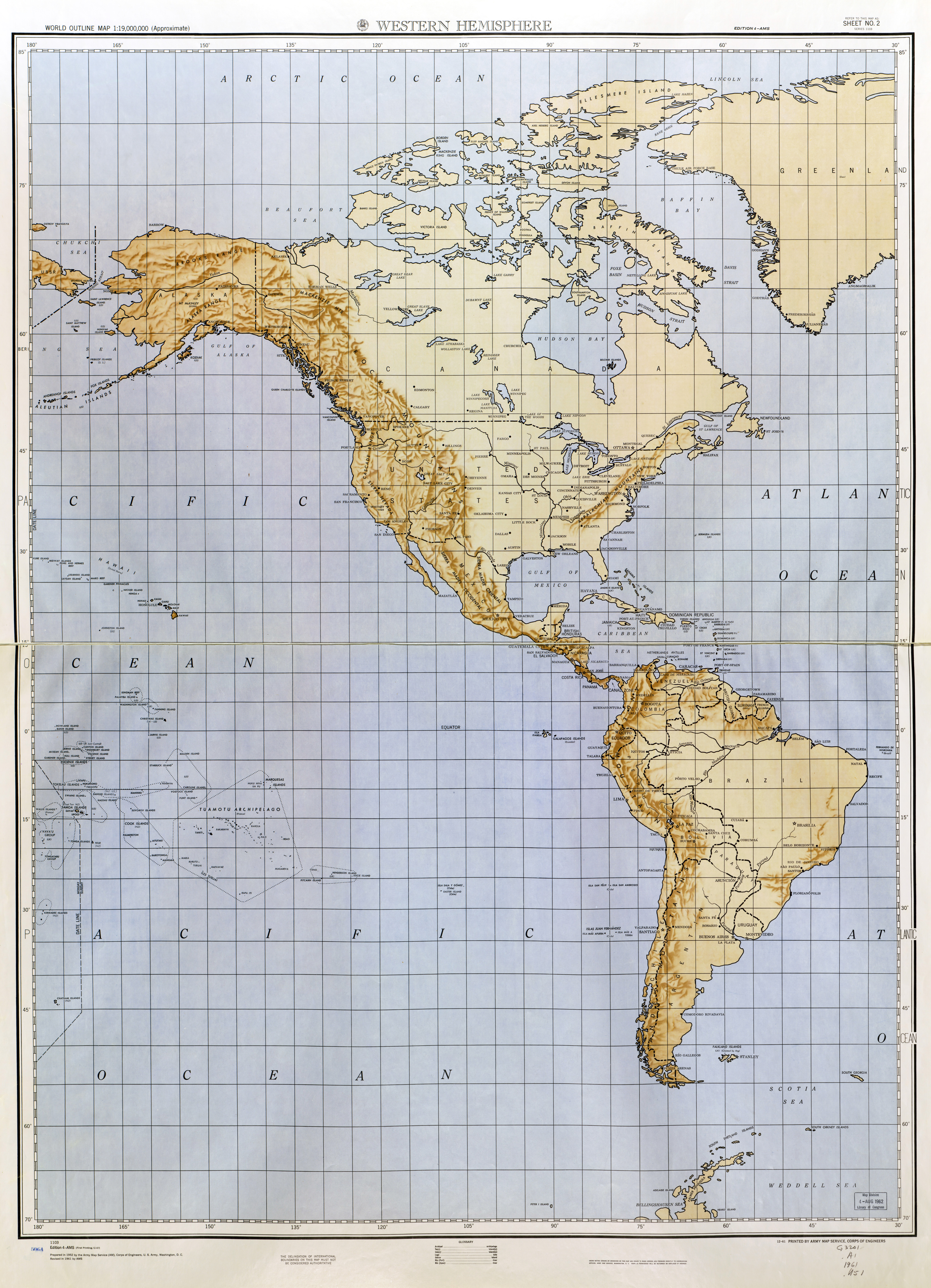 Large detailed World outline map with relief - part 1 (Western ...
