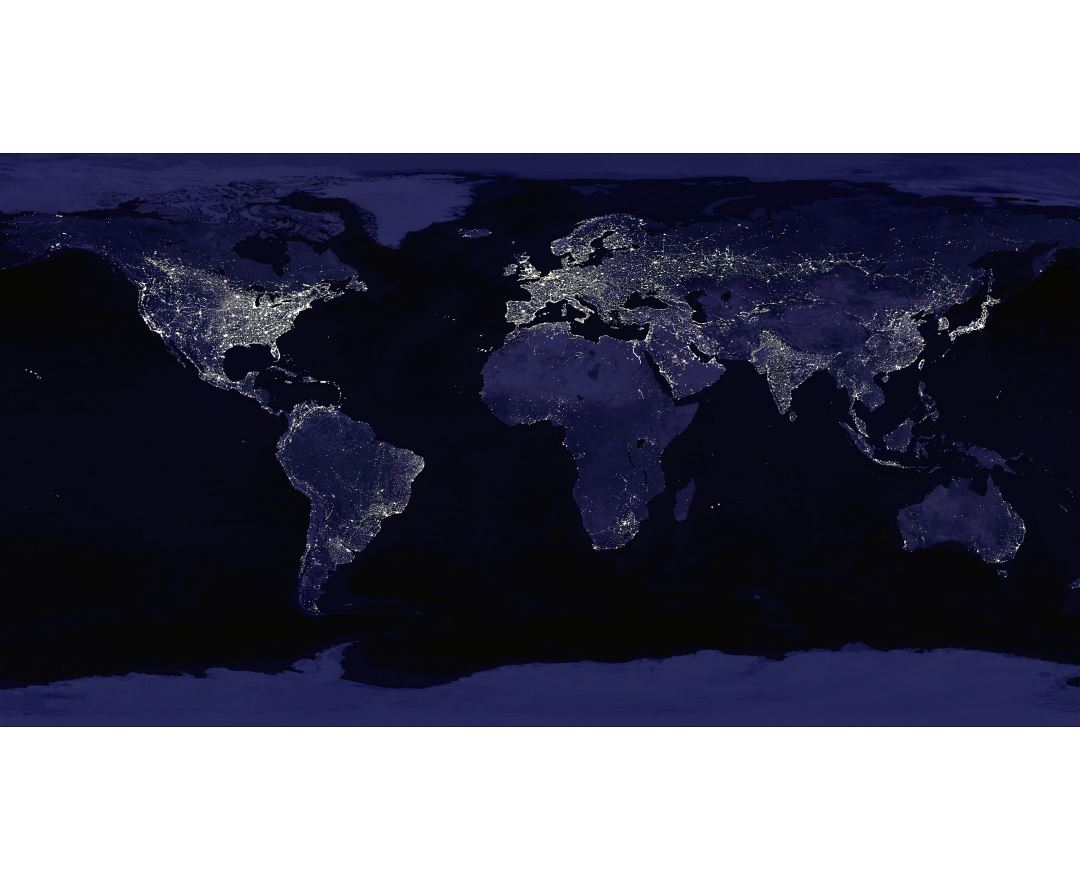 Large map of Earth at Night