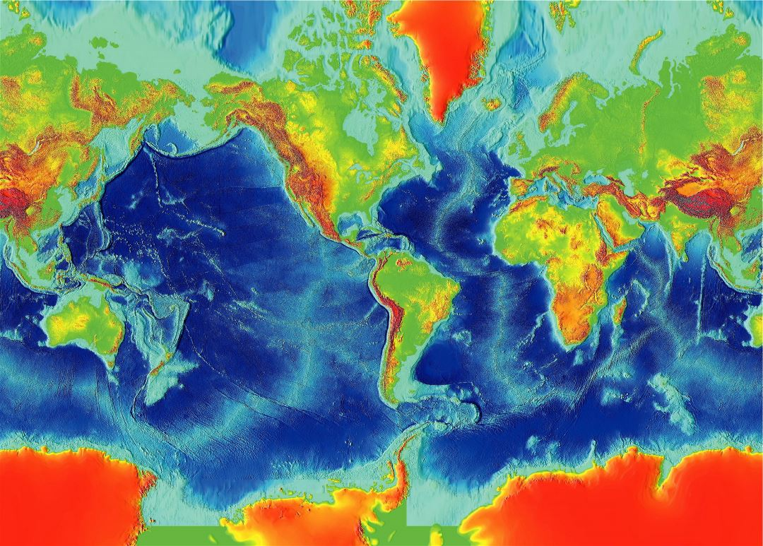 Large map of the Earth Fractured Surface