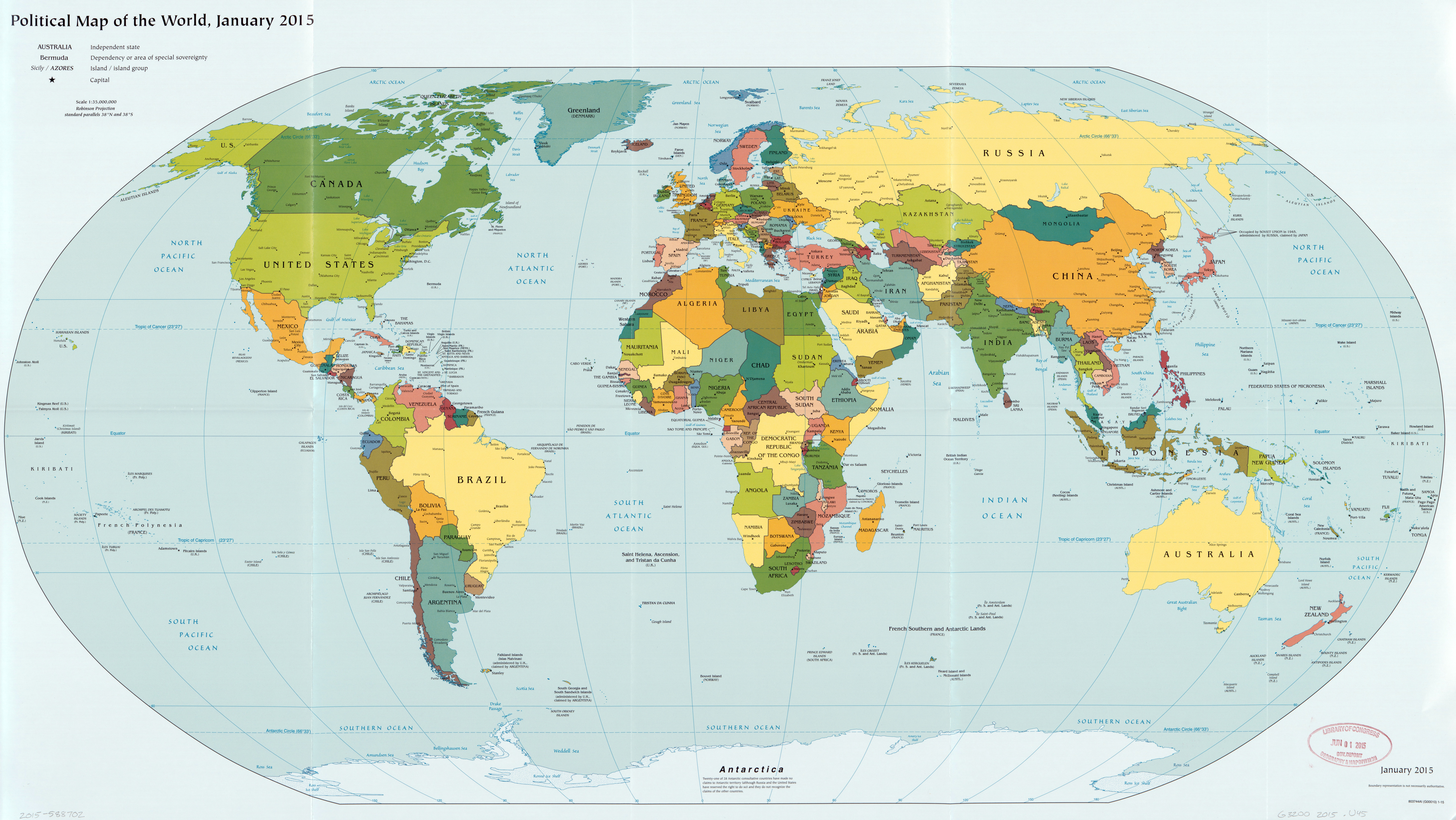 Large Scale Political Map Of The World 2015 World Mapsland