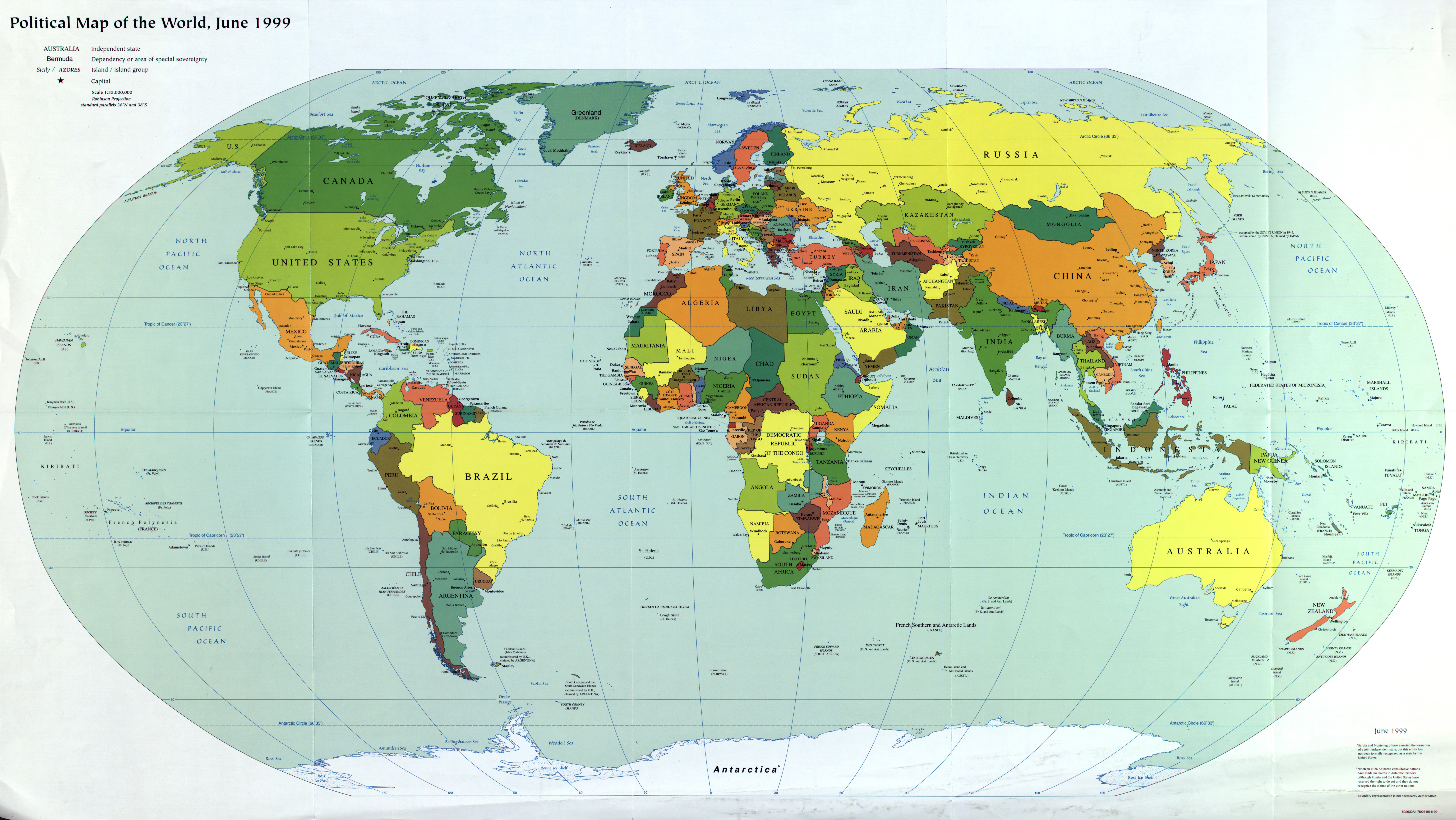 Large scale political map of the world with major cities and large scale political map of the world with major cities and capitals 1999 gumiabroncs Images