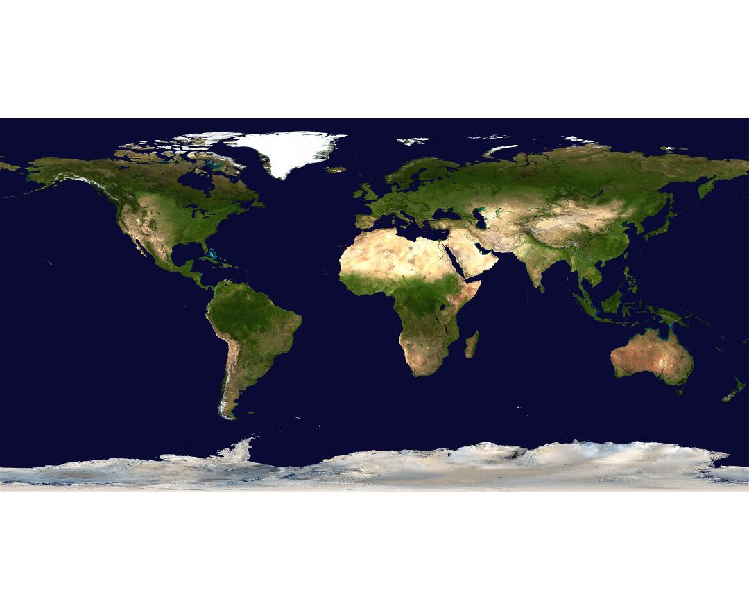 Large scale satellite map of the World