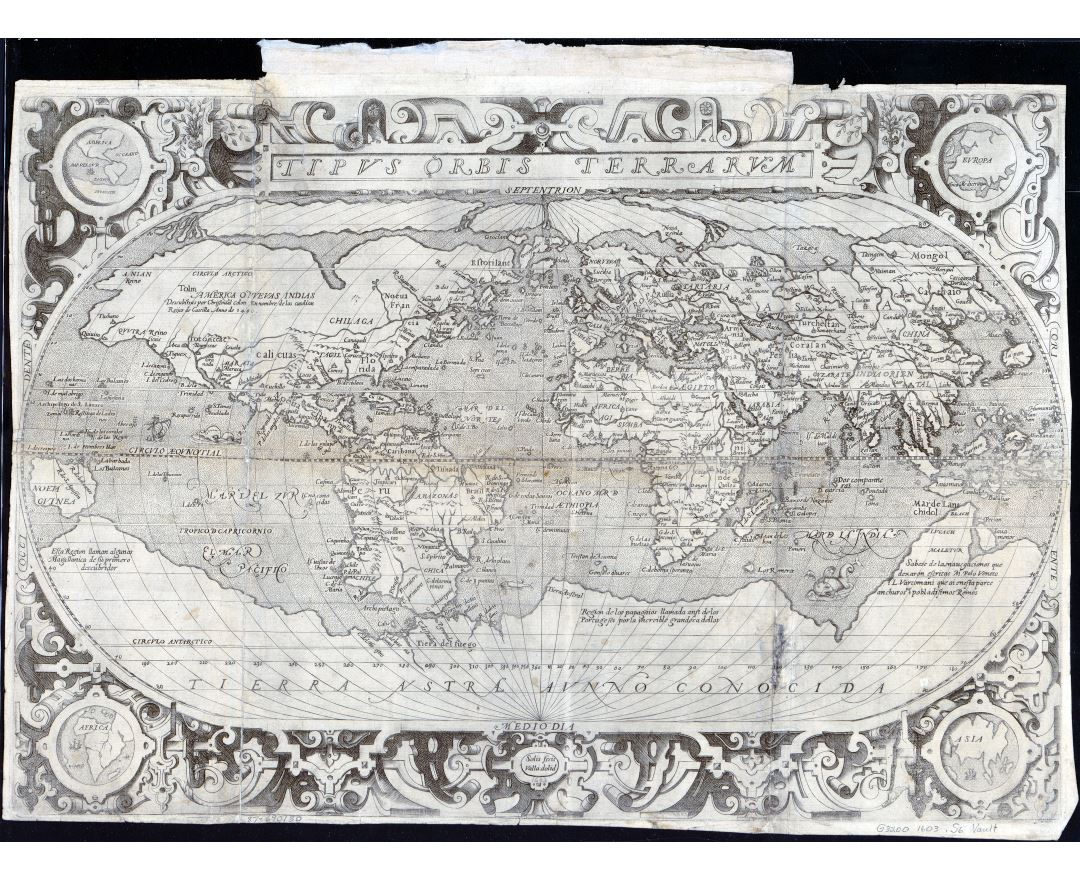 Large scale antique map of the World - 1603