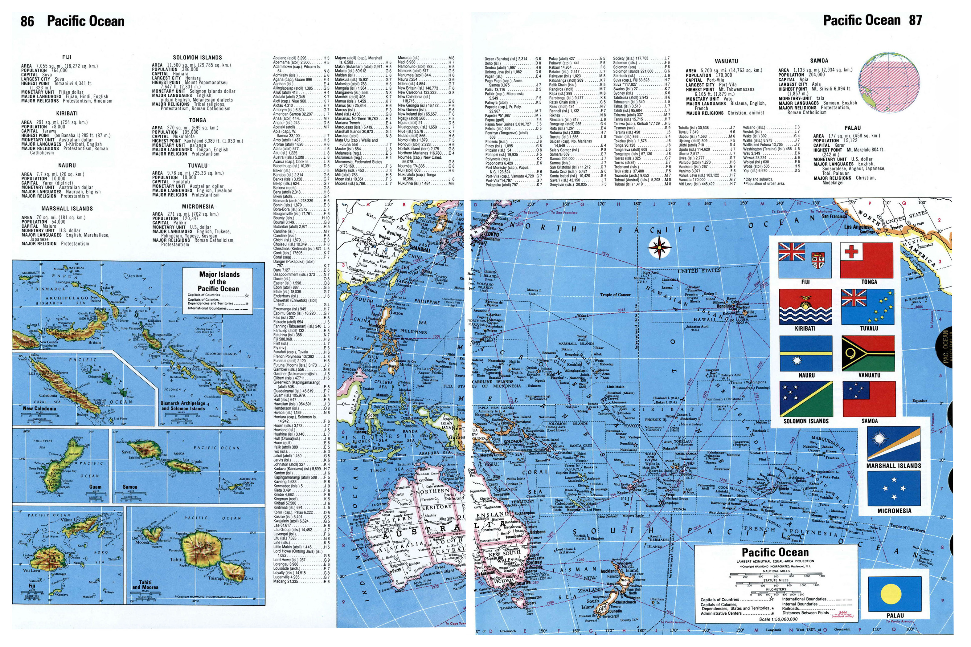 Map Of The World Detailed.Large Detailed Map Of Pacific Ocean Islands Other Maps Of The