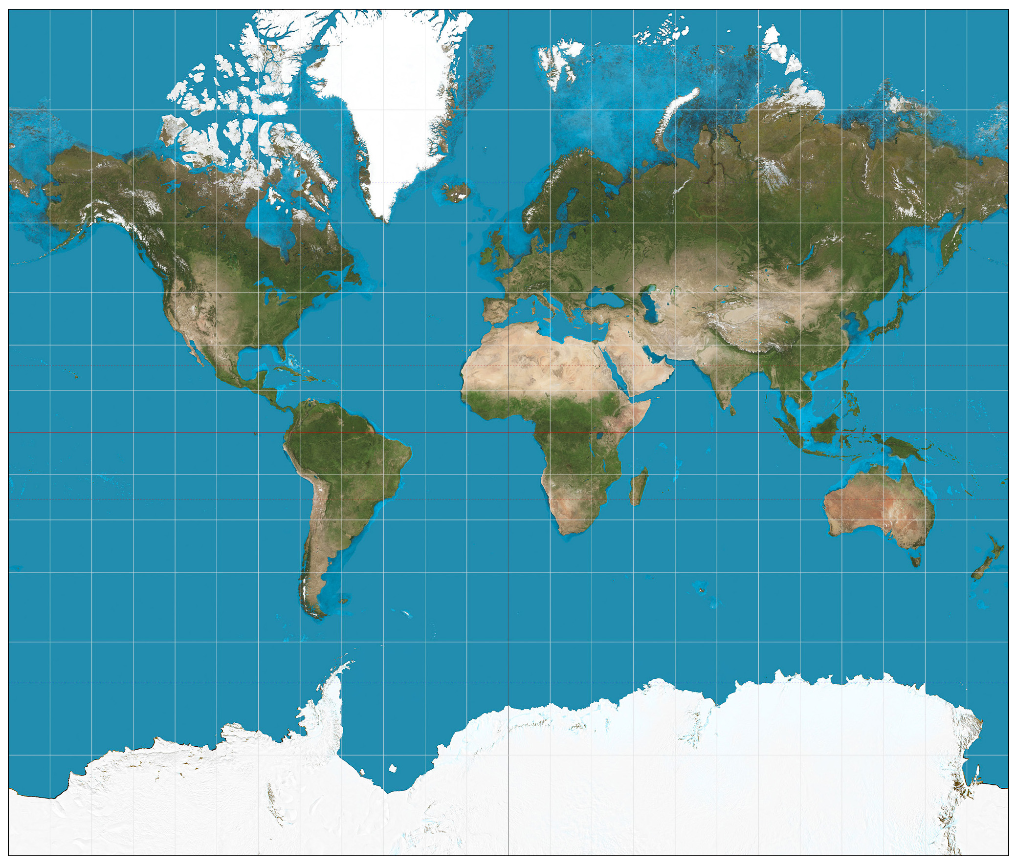 Satellite map of the World | World | Mapsland | Maps of the World