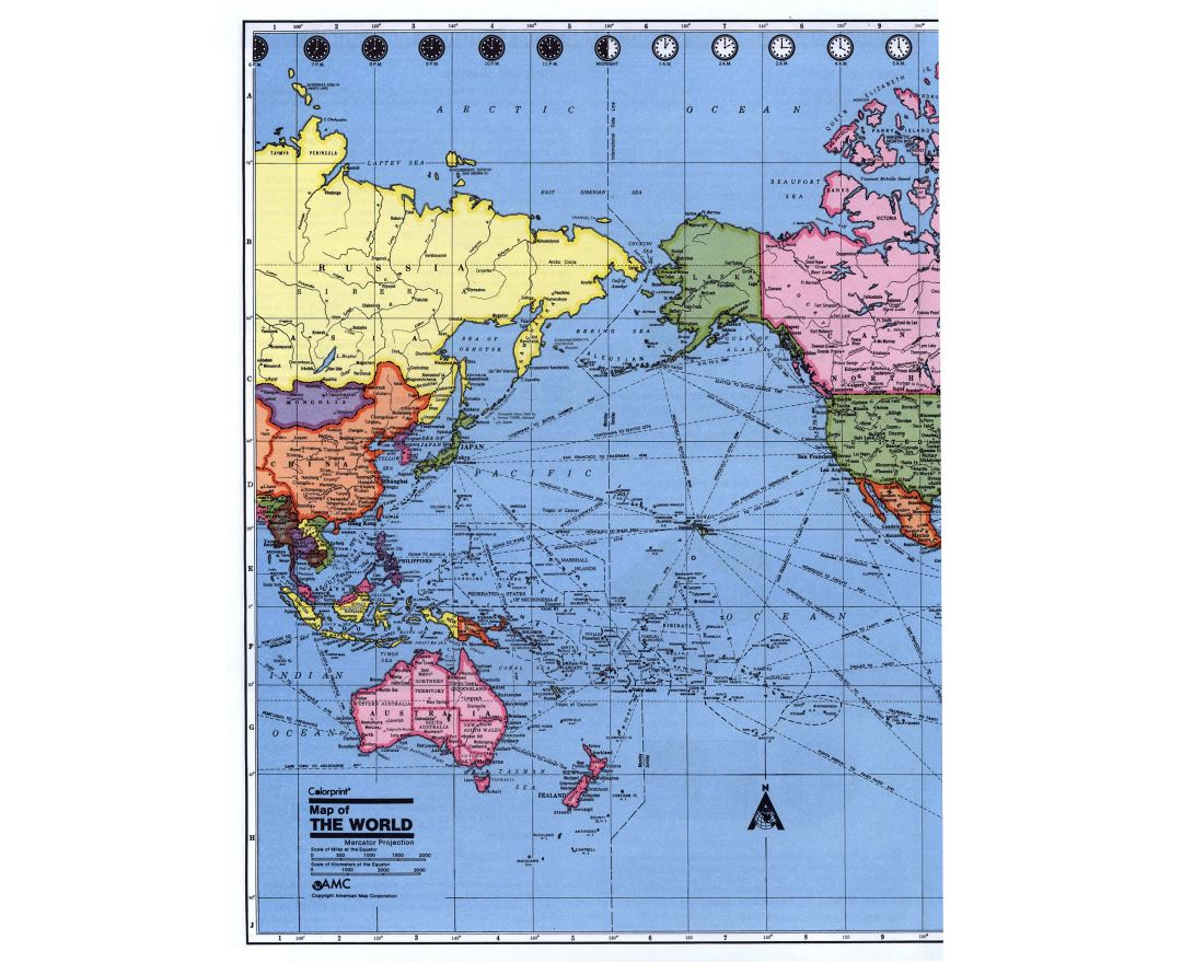 Maps of Time Zones of the World Collection of detailed maps of