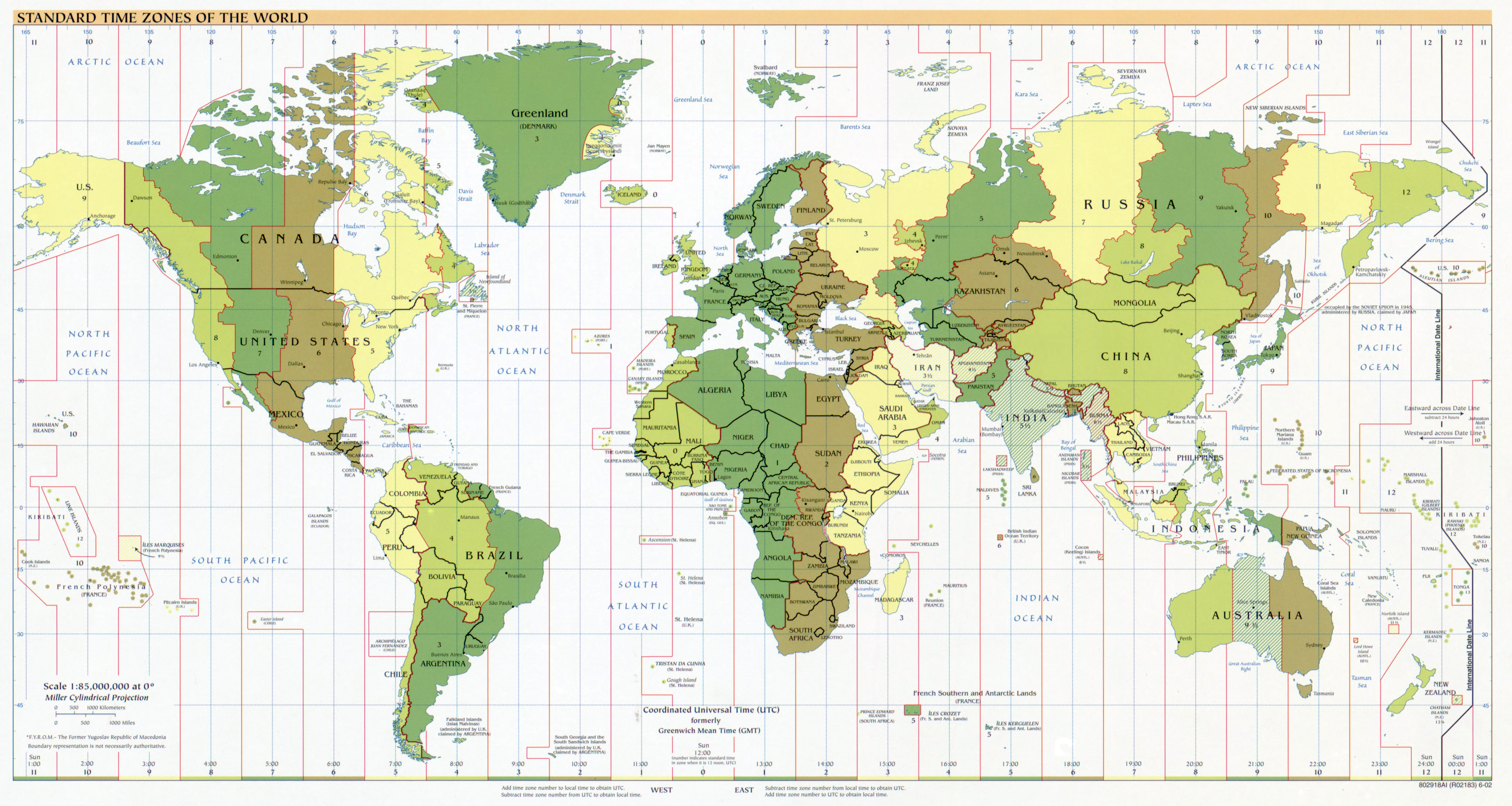Large scale standard time zones of the world map 2002 time zones large scale standard time zones of the world map 2002 gumiabroncs Gallery