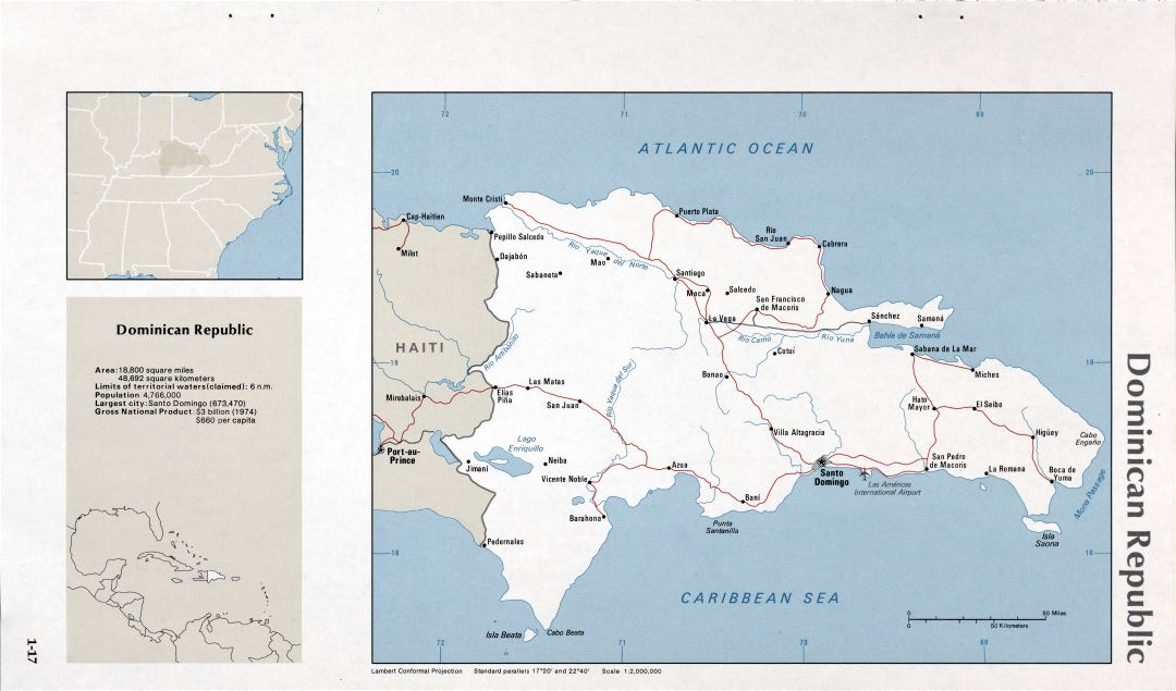 Map of Dominican Republic (1-17)