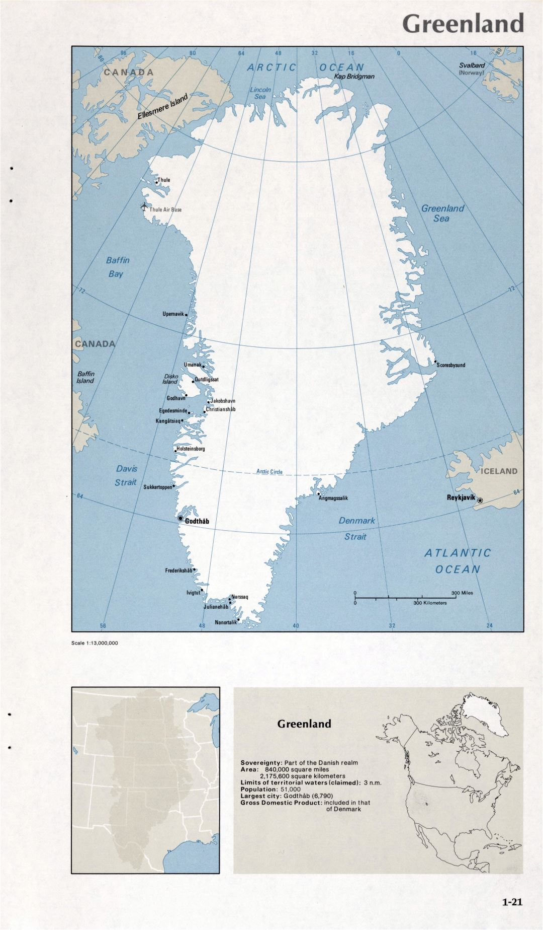 Map of Greenland (1-21)