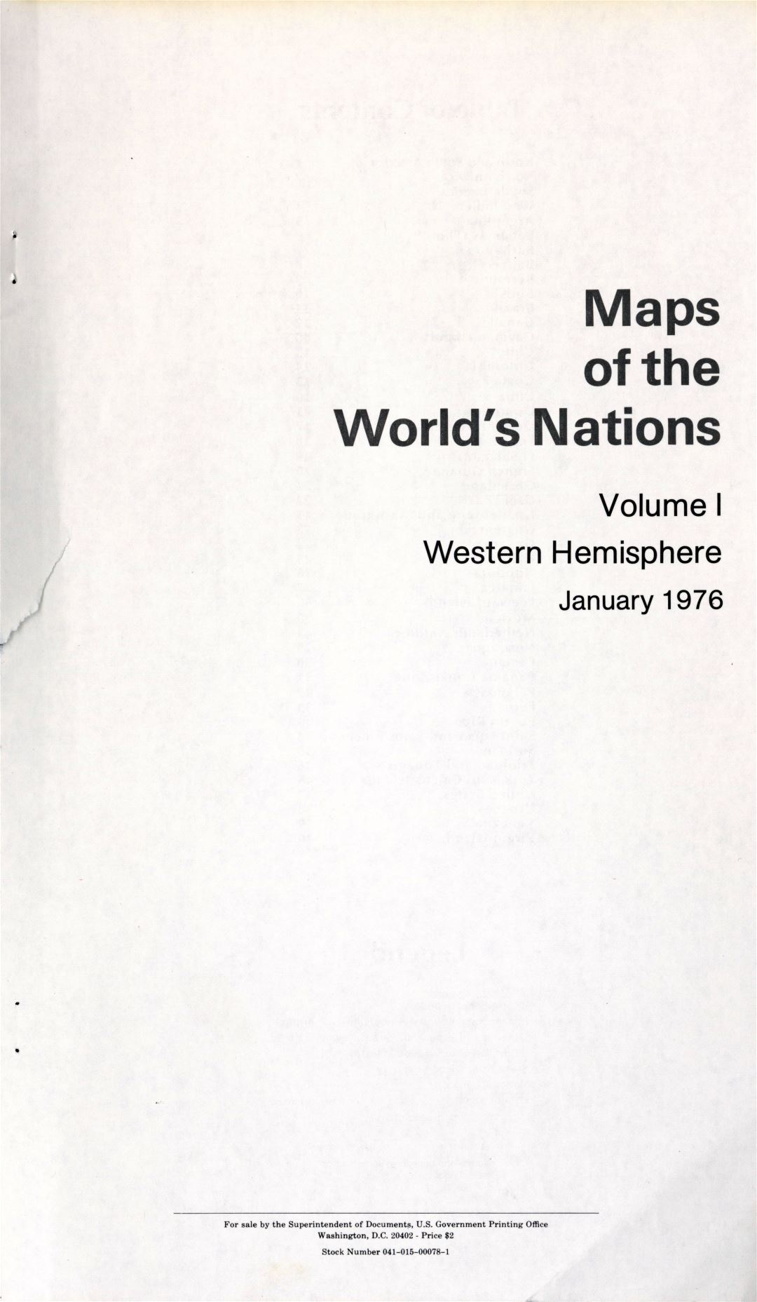 Maps of the World's Nations - Western Hemisphere (title page)